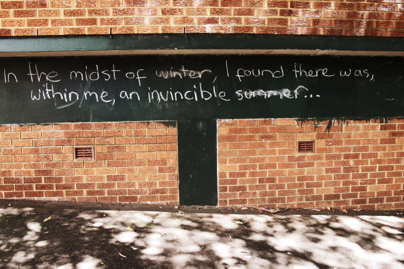 In The Midst Of Winter, I Found There Was, Within Me, An Invincible Summer