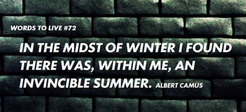 In The Midst Of Winter I Found There Was, Within Me, An Invincible Summer