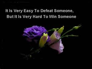 It Is Very Easy To Defeat Someone, But It Is Very Hard To Win Someone ~ Apology Quote