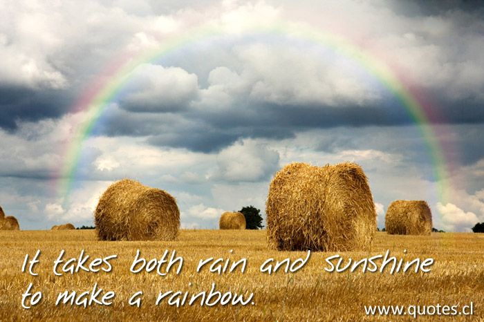 It Takes Both Rain And Sunshine To Make A Rainbow