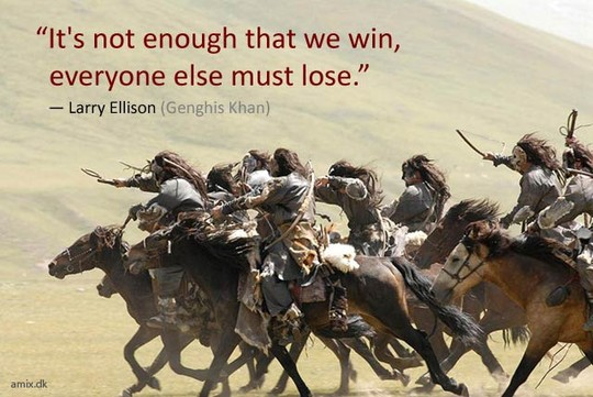 """""""It's Not Enough That We Win, Everyone Else Must Lose"""""""