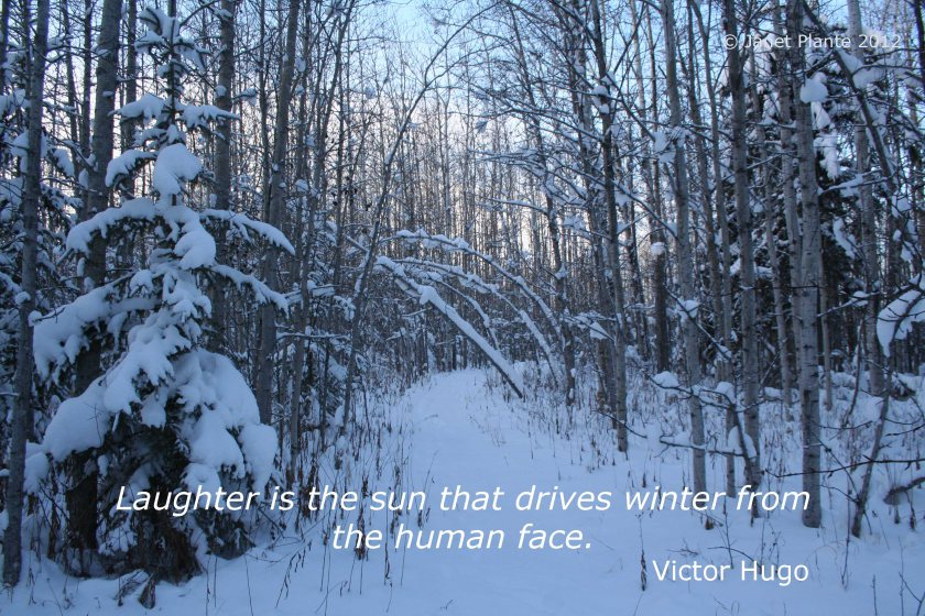 Laughter Is The Sun That Drives Winter From The Human Face