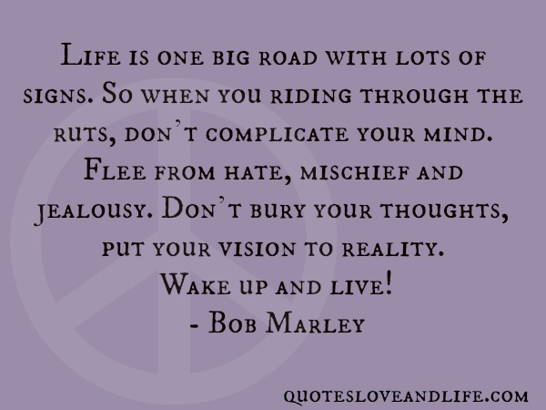 Life Is One Big Road With Lots Of Signs, So When You Riding Through The Ruts, Don't Complicate Your Mind