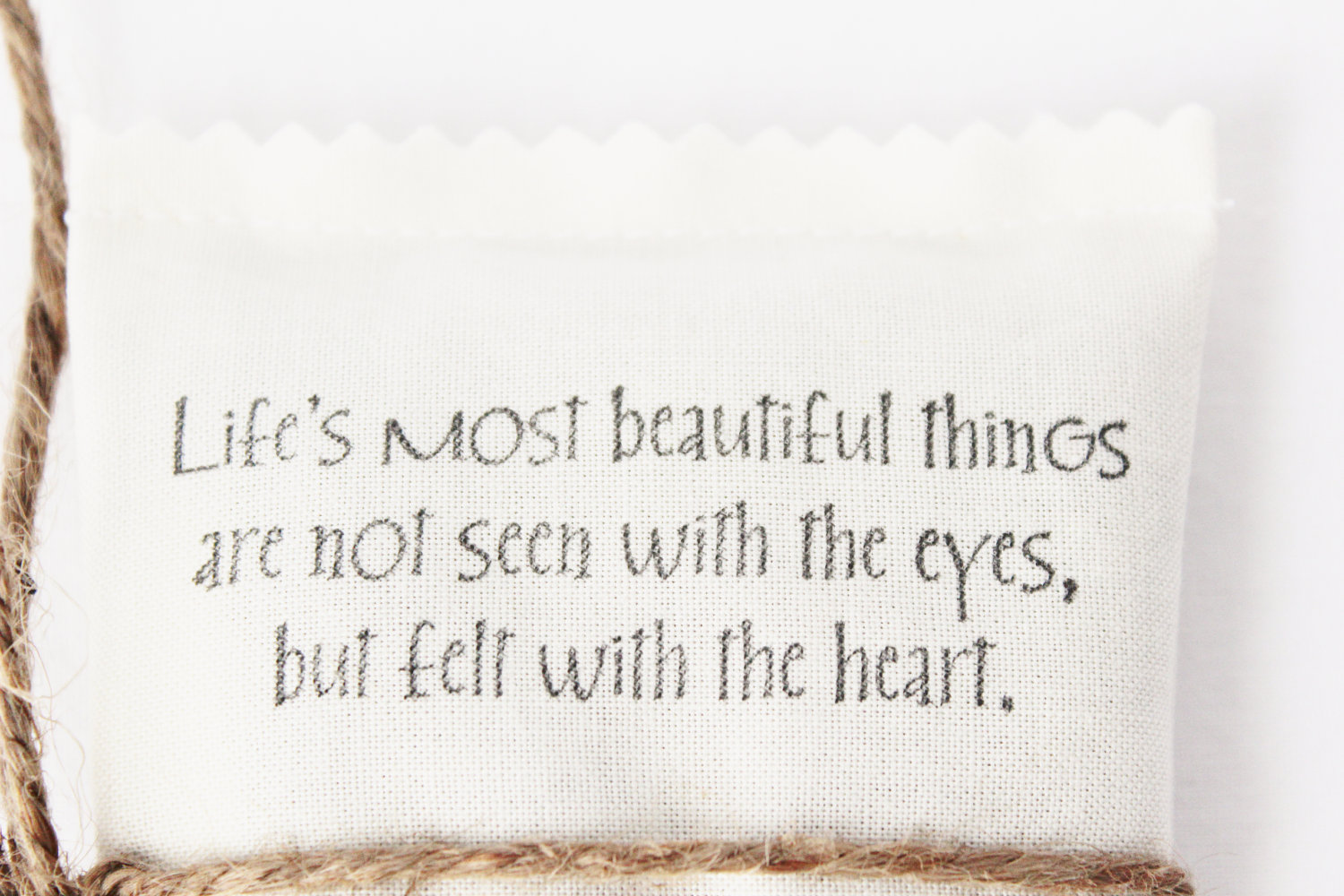 Life's Most Beautiful Things Are Not Seen With The Eyes, But Felt With The Heart