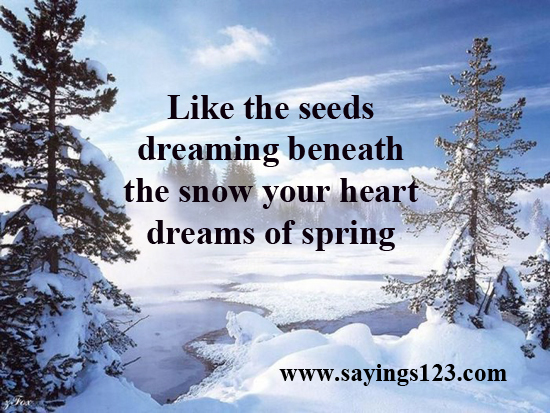 Like The Seeds Dreaming Beneath The Snow Your Heart Dreams Of Spring