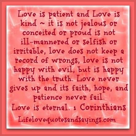 Love Is Patient And Love Is Kind