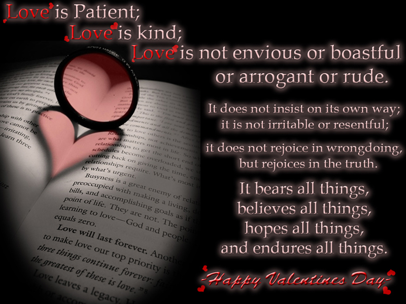 Love Is Patient; Love Is Kind; Love Is Not Envious Or Boastful Or Arrogant Or Rude