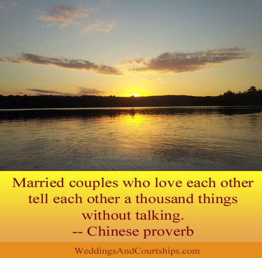 Married Couples Who Love Each Other Tell Each Other A Thousand Things Without Talking