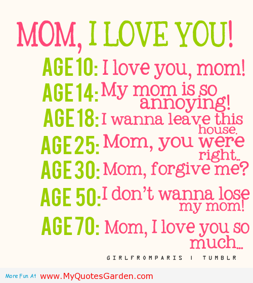 Funny I Love You Daughter Quotes : funny i love you mom quotes