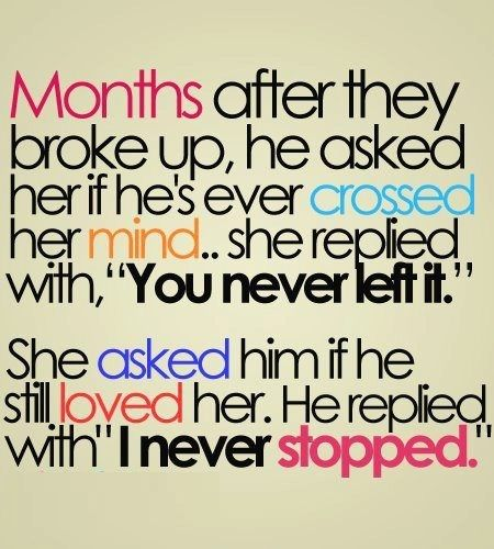 "Months After They Broke Up, He Asked Her If He's Ever Crossed Her Mind, She Replied With,""You Never Left It"""