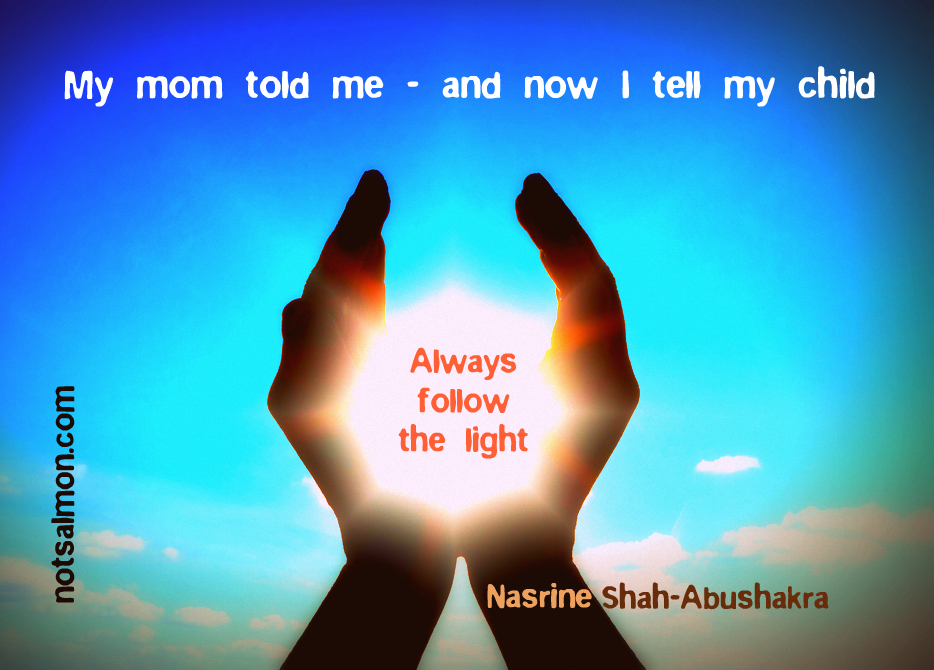 My Mom Told Me And Now I Tell My Child Always Follow The Light ~ Apology Quote