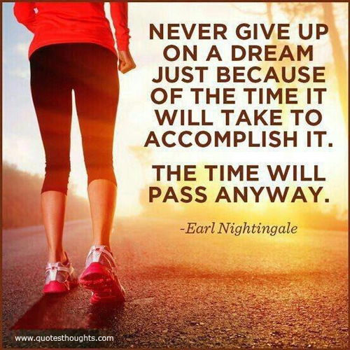 Never Give Up On A Dream Just Because Of The Time It Will Take To Accomplish It. The Time Will Pass Anyway