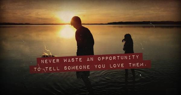 Never Waste An Opportunity To Tell Someone You Love Them ~ Apology Quote
