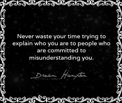 Never Waste Your Time Trying Explain You Are To People Who Are Committed To Misunderstanding You