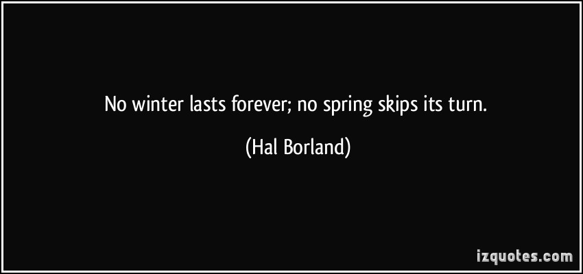 No Winter Lasts Forever, No Spring Skips Its Turn