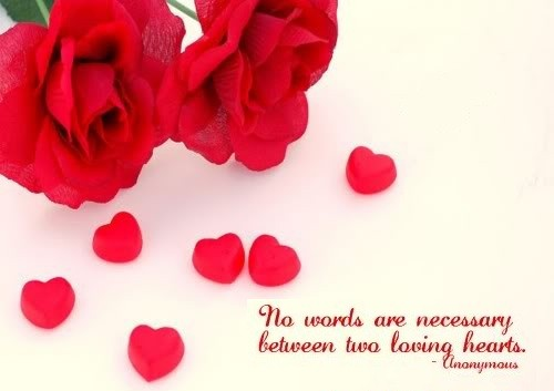No Words Are Necessary Between Two Loving Heart