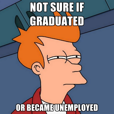Not Sure If Graduated, Or Became Unemployed