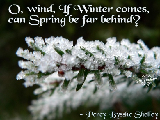O, wind, If Winter comes, can Spring be far behind