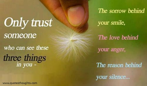 Only Trust Someone Who Can See These Three Things