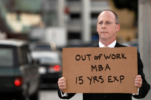 Out Of Work MBA 15 Years Experience