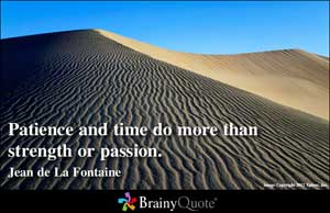 Patience And Time Do More Than Strangth Or Passion