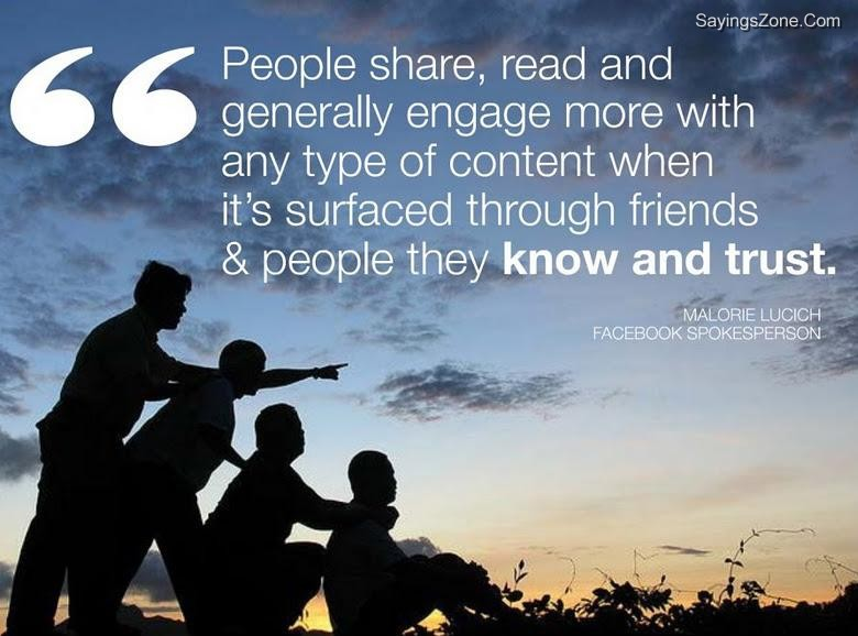 """People Share, Read And Generally Engage More With Any Type Of Content When It's Surfaced Through Friends & People They Know And Trust"""