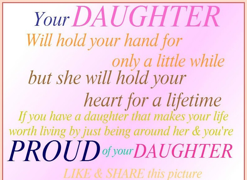 Proud Of Your Daughter