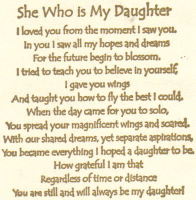 She Who I My Daughter I Loved You From The Moment I Saw You