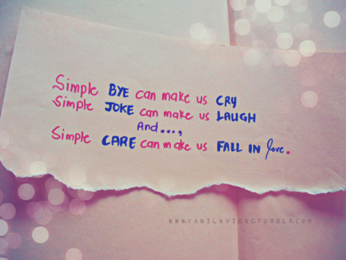 Simple Bye Can Make Us Cry