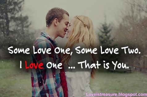 Some Love One, Some Love Two, I Love One, That Is You