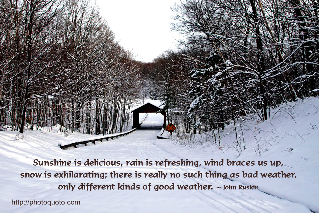 Sunshine Is Delicious, Rain Is Refreshing