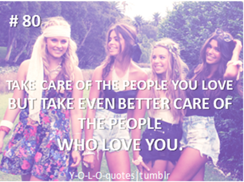 Take Care Of The People You Love But Take Even Better Care Of The People Who Love You ~ Apology Quote