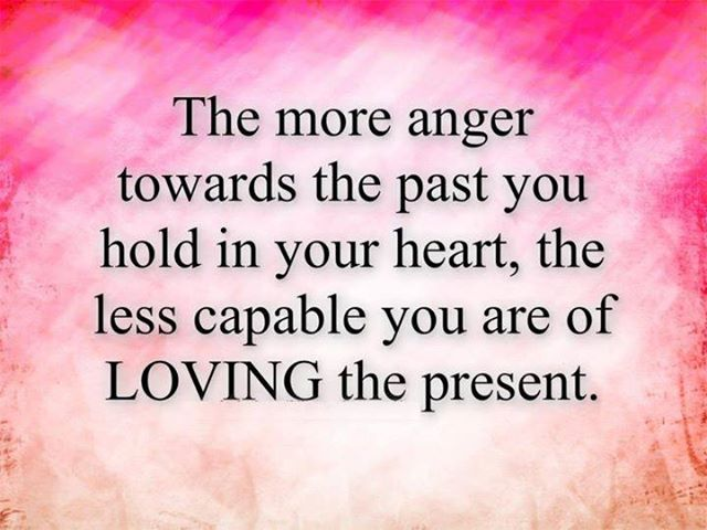 The More Anger Towards The Past You Hold In Your Heart, The Less Capable You Are Of Loving The Present ~ Apology Quotes