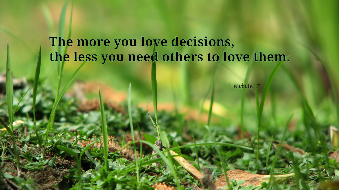 The More You Love Decisions, The Less You Need Others To Love Them