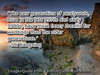 """""""The New Generation Of Newlyweds, Born In The Late 1970s And Early 1980s, Have More Fancy Dreams For Weddings Than The Older Generations"""""""