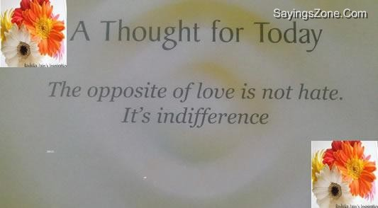 The Opposite Of Love Is Not Hate, It's Indifference