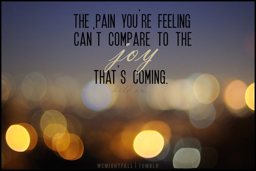 The Pain You Are Feeling Can I Compare To The Joy That's Coming ~ Apology Quote