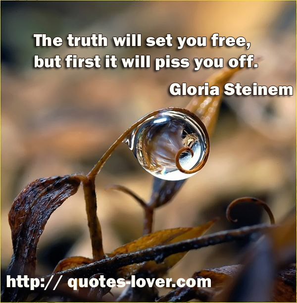 The Truth Will Set You Free, But First It Will Piss You Off!