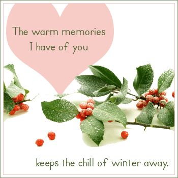 The Warm Memories I Have Of You, Keep The Chill Of Winter Away