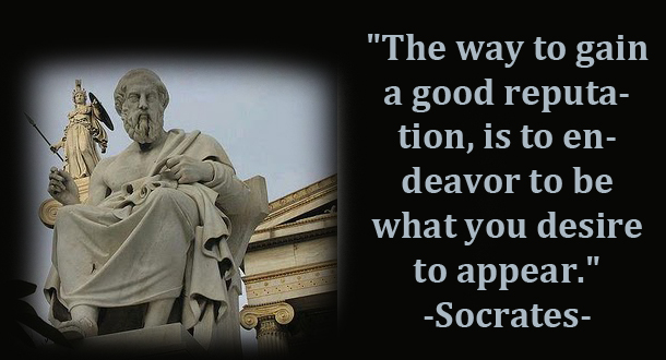 """The Way To Gain a Good Reputation, Is To Endeavor To be What You Desire To Appear"" ~ Apology Quote"