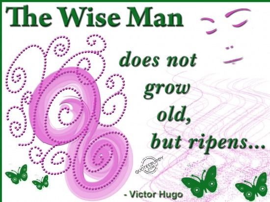 The Wise Man Does Not Grow Old, But Ripens