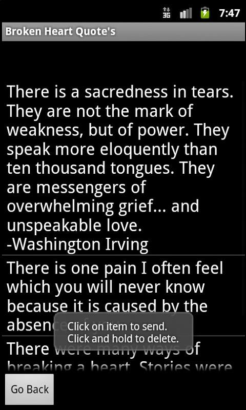 There Is a Sacredness In Tears. They Are Not The Mark of Weakness, But Of Power