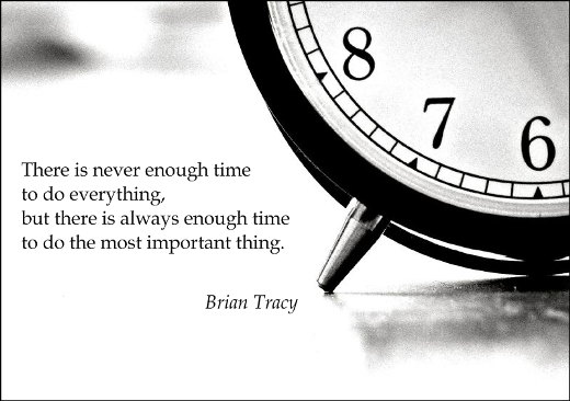 There Is Never Enough Time To Do Everything But There Is Always Enough Time To Do The Most Important Thing