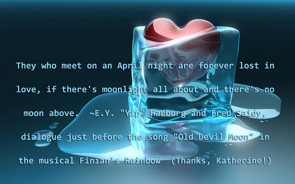 They Who Meet On An April Night Forever Lost In Love