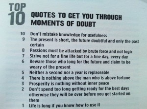 Top 10 Quotes To Get You Through Moments Of Doubt