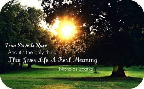 True Love Is Rare And It S The Only Thing That Gives Life A Real