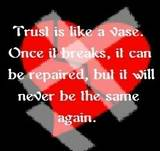 Trust Is Like A Vase. Once It Breaks, It Can Be Repaired, But It Will Never Be The Same Again