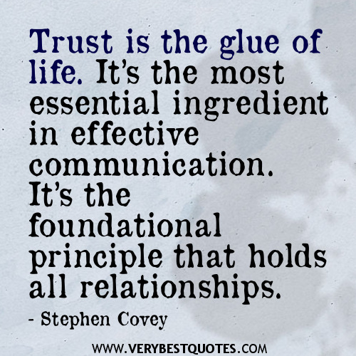 Quotes On Losing Trust In Relationships: Relationship Quotes Trust And Communication. QuotesGram