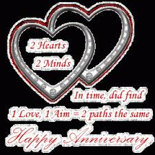 Two Hearts Two Minds. In Time, Did Find One Love, One Aim Two Paths The Same. Happy Anniversary