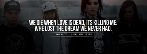 We Die When Love Is Dead, Its Killing Me. Whe Lost The Dream We Never Had